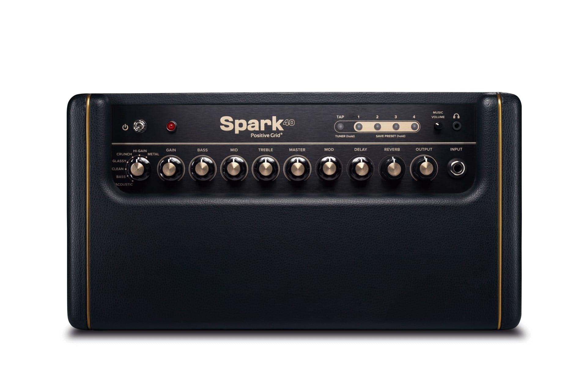 Mobile App Bass and Acoustic Guitar 40-Watt Combo Amp Electric Positive Grid Spark Guitar Amplifier