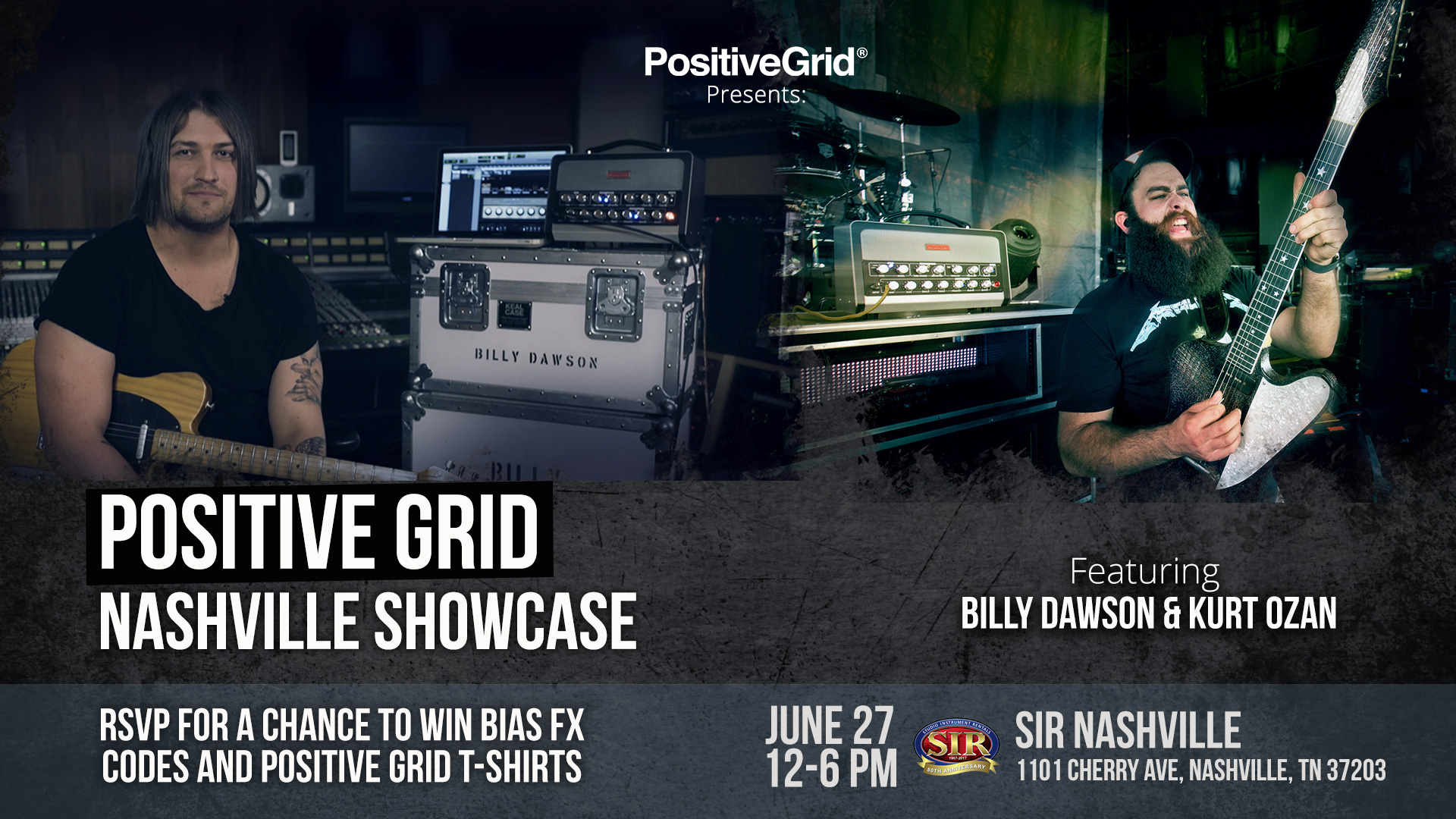 Positive Grid Presents – Nashville Showcase feat. Billy Dawson and Kurt Ozan